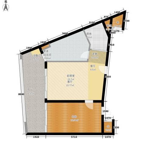保利海陵岛1室0厅1卫1厨111.00㎡户型图