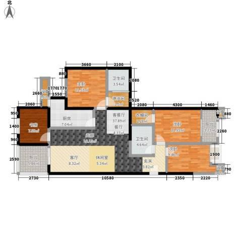 蔚蓝印象4室1厅2卫1厨144.00㎡户型图
