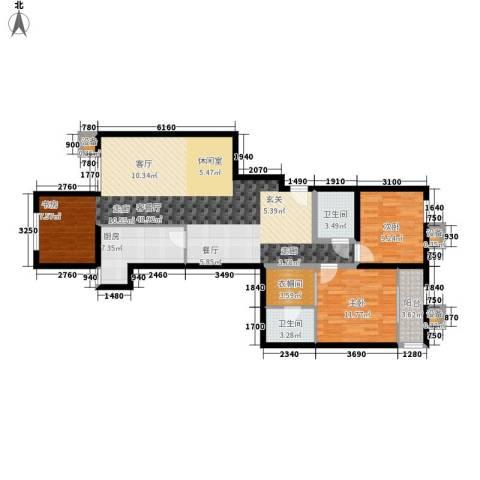 蔚蓝印象2室1厅2卫1厨125.00㎡户型图