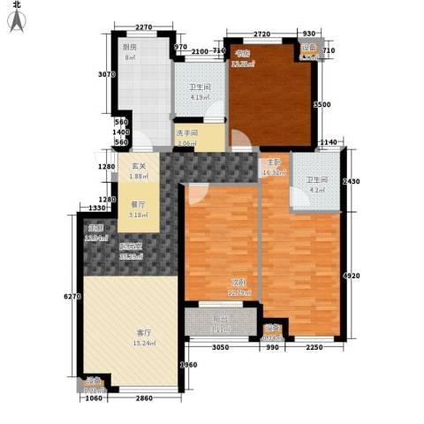 东城景苑3室0厅2卫1厨138.00㎡户型图