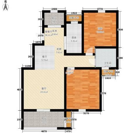 新新家园2室1厅1卫1厨103.00㎡户型图