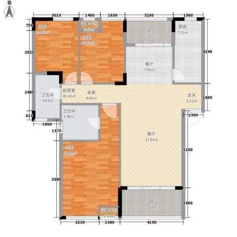 融科蔚城3室0厅2卫1厨112.76㎡户型图