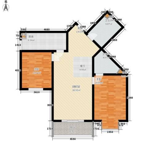 顺美华庭2室0厅2卫1厨117.00㎡户型图