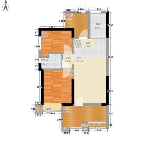 桐梓坡小区2室0厅1卫1厨60.00㎡户型图