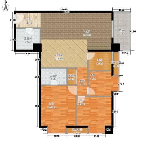 南方星座3室0厅2卫1厨142.00㎡户型图