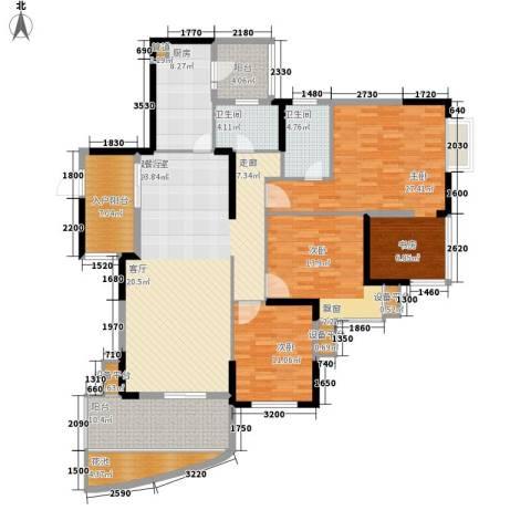 龙光・阳光海岸3室0厅2卫1厨196.00㎡户型图