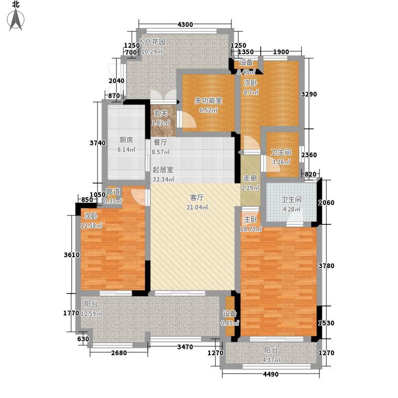 金科廊桥水乡电梯洋房户型3室2厅