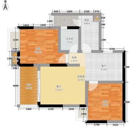 雅典汇2室0厅1卫1厨65.00㎡户型图