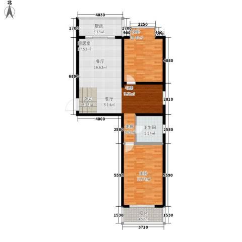 丝路起点2室0厅1卫1厨98.00㎡户型图