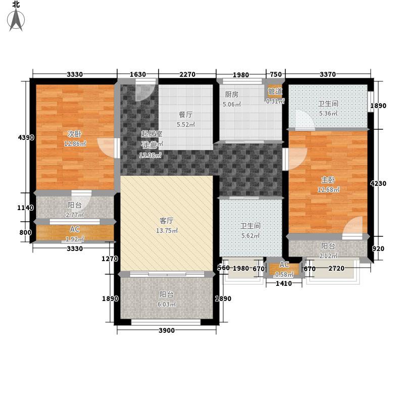 中航城国际社区102.00㎡35#36#-A-2户型3室2厅