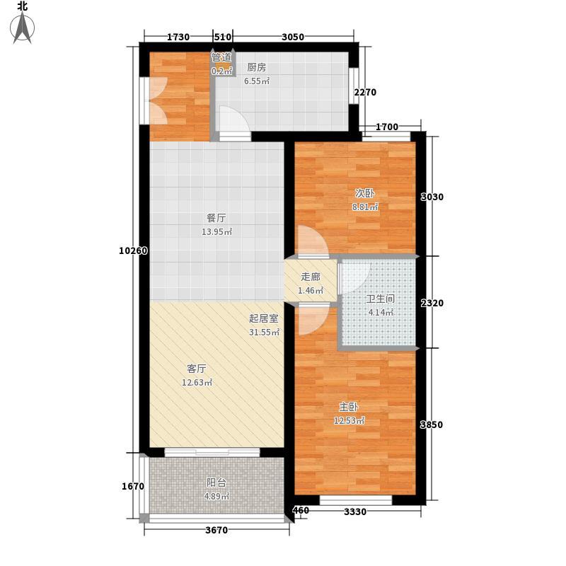 深蓝公寓115.00㎡1面积11500m户型