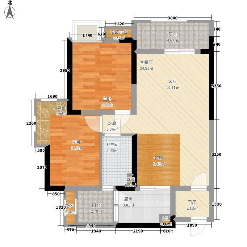 锦绣天伦花园76.00㎡三街8号03户型2室2厅