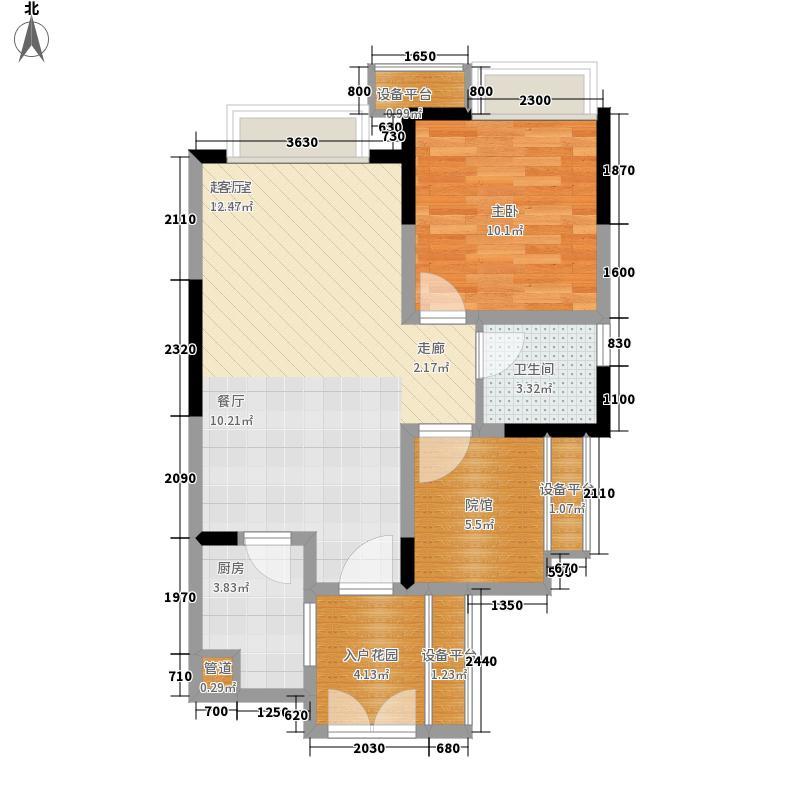 华润二十四城二期13#14#楼标准层E1户型1室1厅