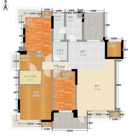 龙福花园3室0厅3卫1厨114.19㎡户型图