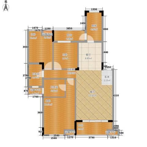 融科蔚城3室0厅2卫1厨109.00㎡户型图