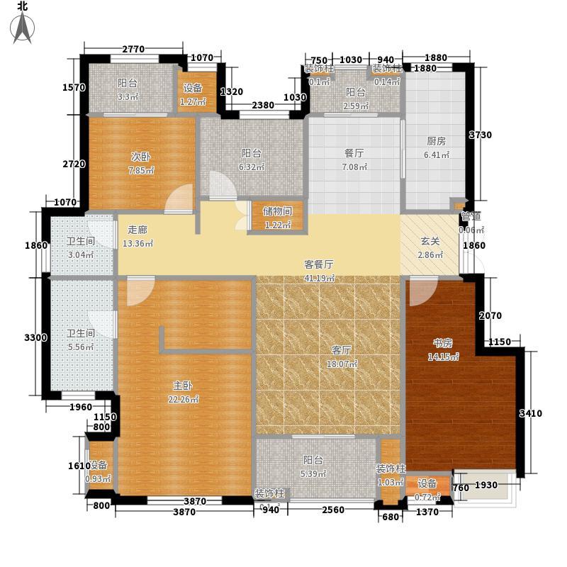 龙湖两江新宸一期洋房C8-2户型4室2厅