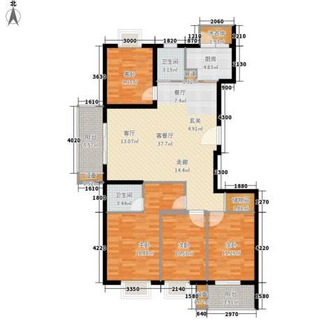 云河湾4室1厅2卫1厨141.00㎡户型图