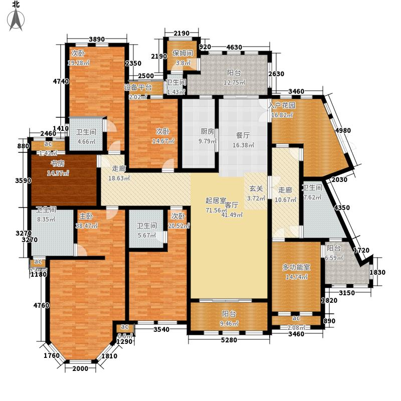 中隆国际御玺351.80㎡2号楼L面积35180m户型