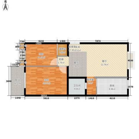 丝路起点2室0厅1卫1厨101.00㎡户型图