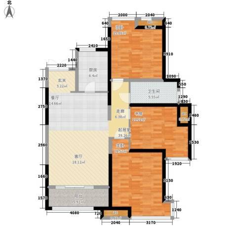 世融嘉轩3室0厅1卫1厨122.00㎡户型图