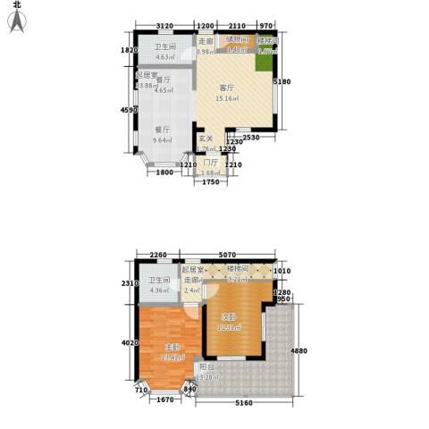 玉龙湾运动度假山谷2室0厅2卫0厨101.00㎡户型图