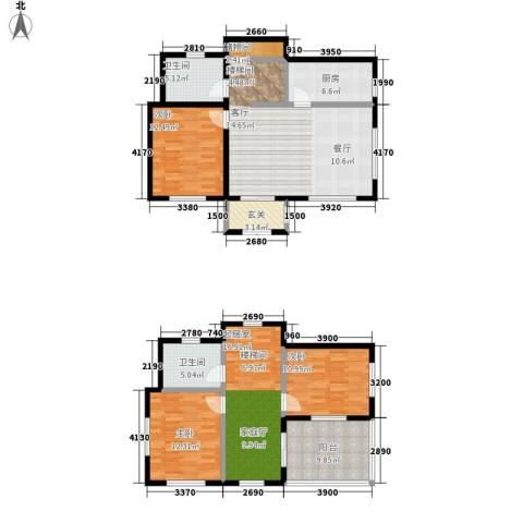玉龙湾运动度假山谷3室0厅2卫1厨130.00㎡户型图