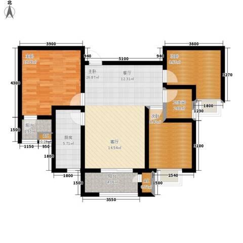 清渭公馆4室0厅1卫1厨102.00㎡户型图