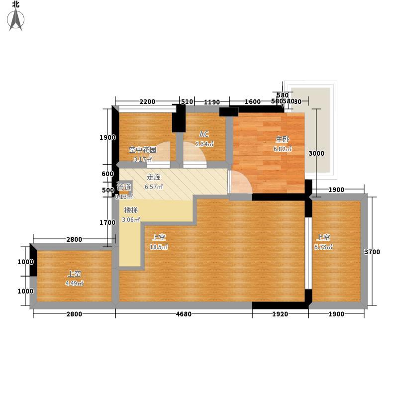 信义嘉御山85.39㎡2、3、4栋01--复式上层户型2室2厅