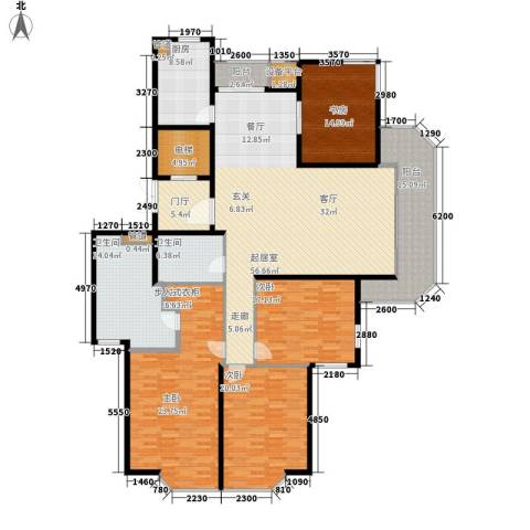 绿城慈园4室0厅2卫1厨219.00㎡户型图