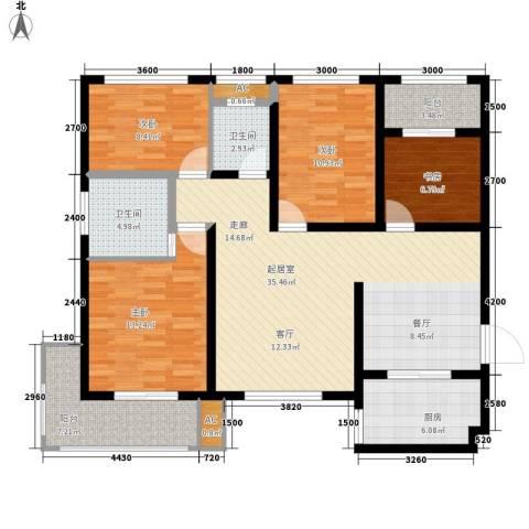 清渭公馆4室0厅2卫1厨141.00㎡户型图