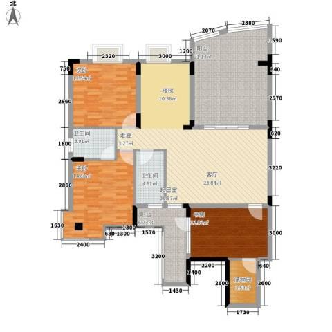 书香名邸3室0厅2卫0厨163.00㎡户型图