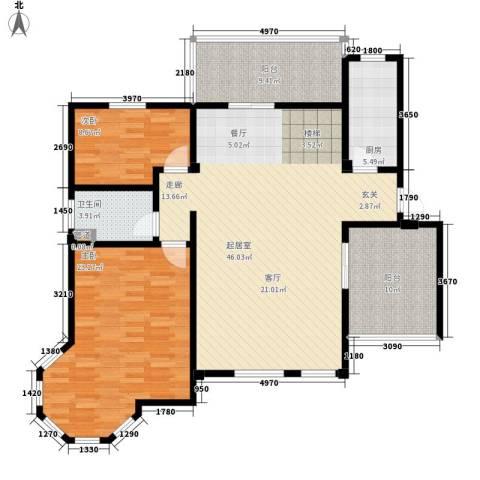 洪城比华利2室0厅1卫1厨148.00㎡户型图