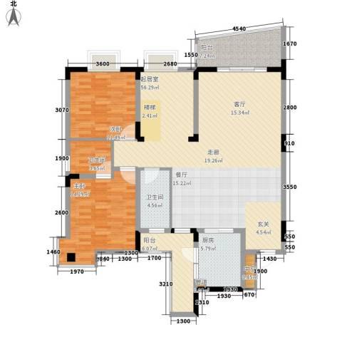 书香名邸2室0厅2卫1厨156.00㎡户型图