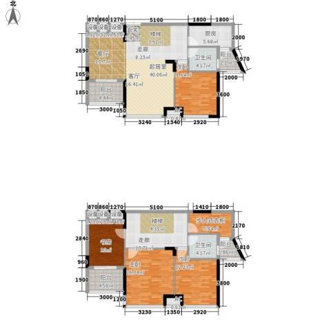 升华公园懿品4室0厅2卫1厨202.00㎡户型图