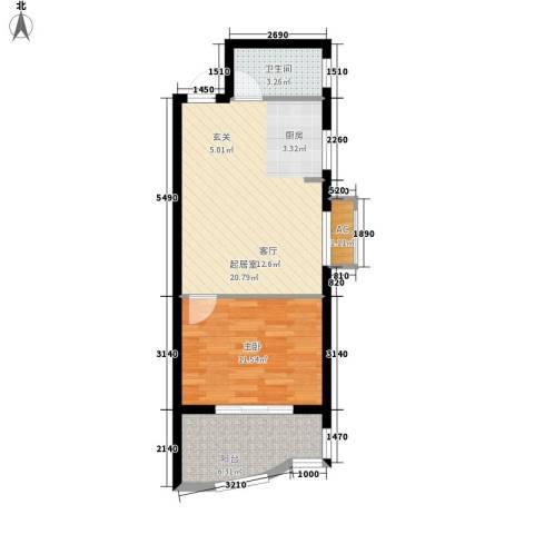 恒盛世家1室0厅1卫0厨49.00㎡户型图