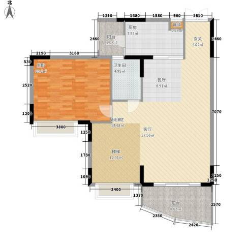 海龙湾1室0厅1卫1厨219.00㎡户型图
