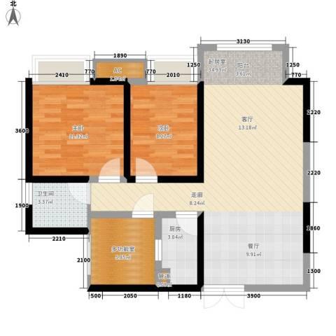 绿云国际纺织服装城2室0厅1卫1厨92.00㎡户型图