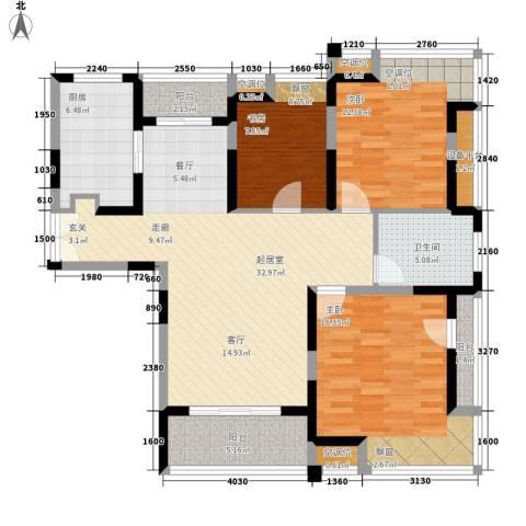 锦帆路小区3室0厅1卫1厨135.00㎡户型图