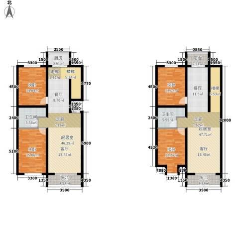 西城首府4室0厅2卫1厨234.00㎡户型图