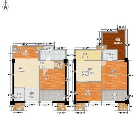 橙仕空间4室0厅2卫1厨145.31㎡户型图
