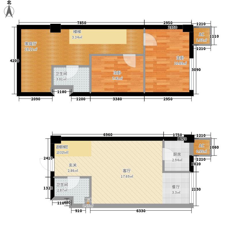 橙仕空间82.00㎡新房号25-28[全面积8200m户型