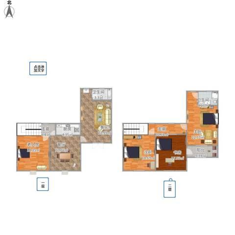 自建别墅4室2厅2卫1厨204.00㎡户型图