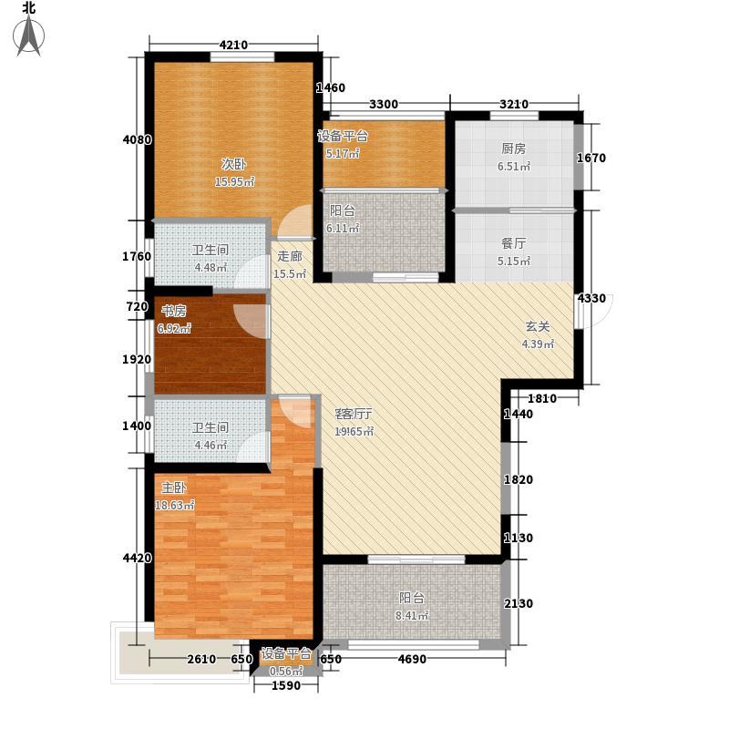 宝利丰广场137.00㎡2期D户型3室2厅