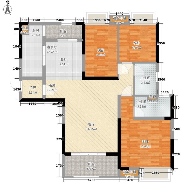 锦绣天伦花园119.00㎡三街8号05户型3室2厅