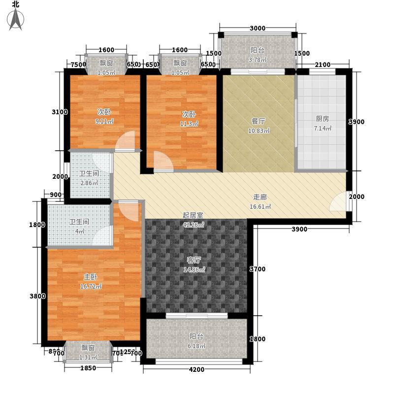 东顺擎天138.63㎡D1户型3室2厅