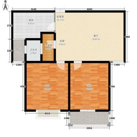 金街坊2室0厅1卫1厨100.00㎡户型图