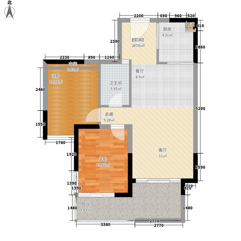 鲁能三亚湾94.00㎡美5区A1-2户型2室2厅