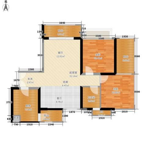 东风广场2室0厅1卫1厨87.00㎡户型图