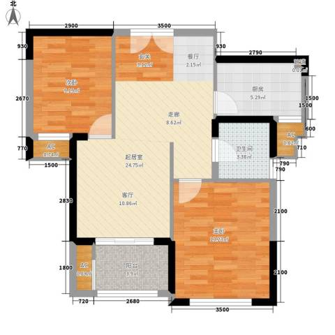 融鑫园小区2室0厅1卫1厨83.00㎡户型图