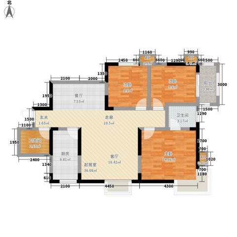 阳光嘉庭3室0厅2卫1厨120.00㎡户型图
